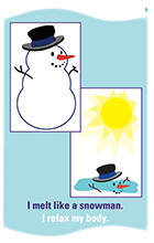snowman card front